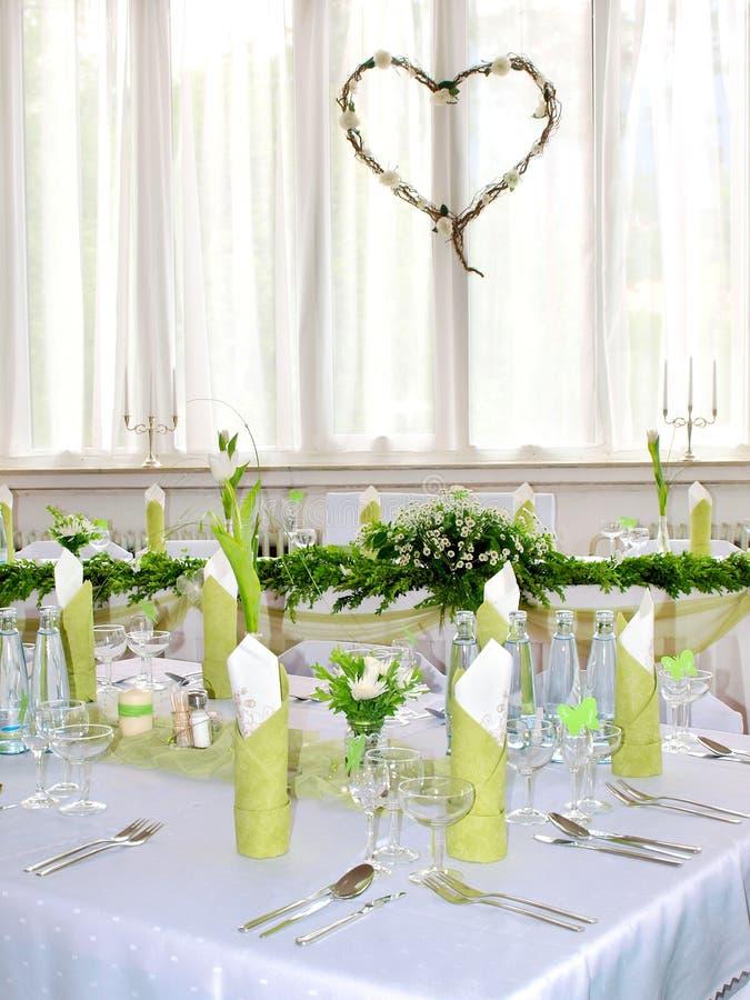 Wedding Bankett stockfotografie