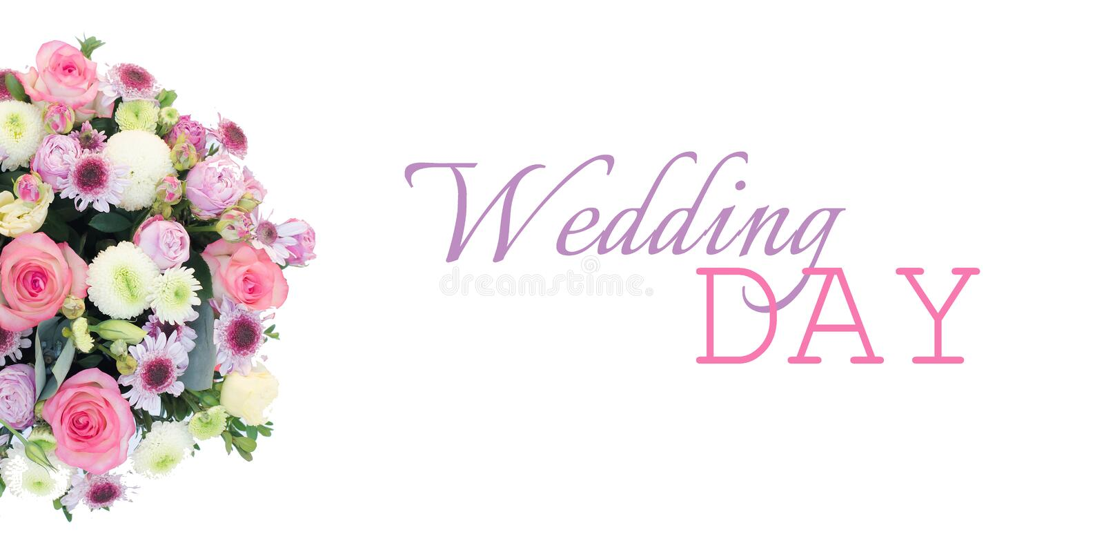 Wedding banner for a website or facebook with a flower arrangement royalty free stock images