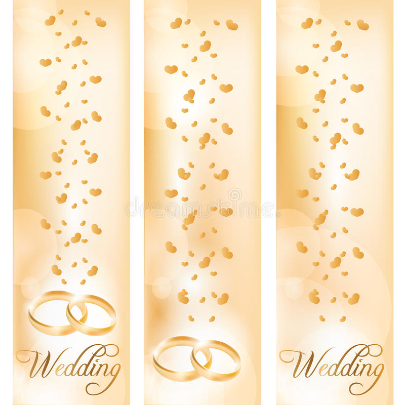 Wedding banner with the wedding rings vector illustration