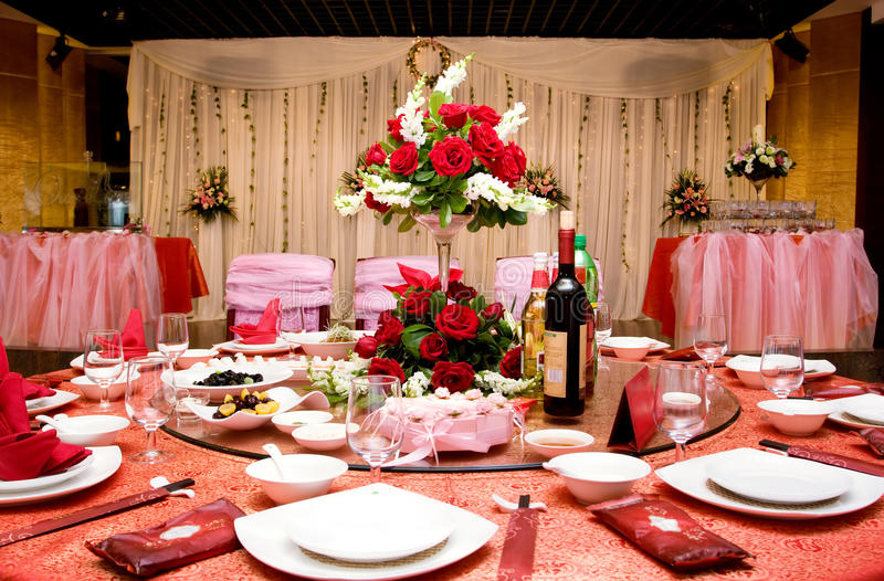 Wedding Banquet stock photos