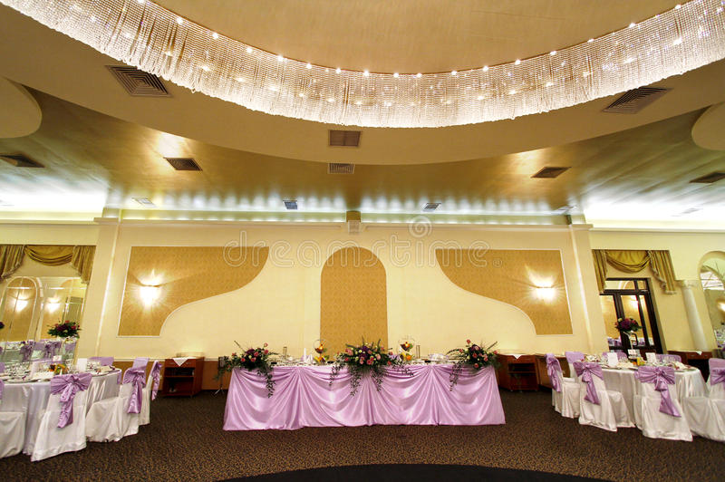 Wedding or banquet ballroom royalty free stock images