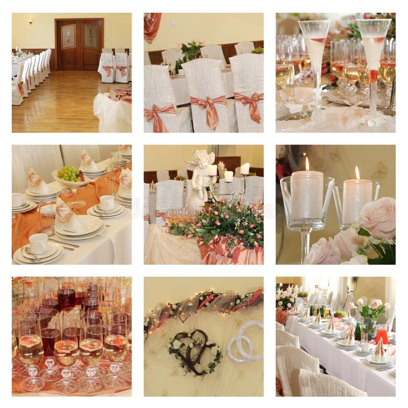 Free Wedding Banquet. Collage Stock Image - 17685311
