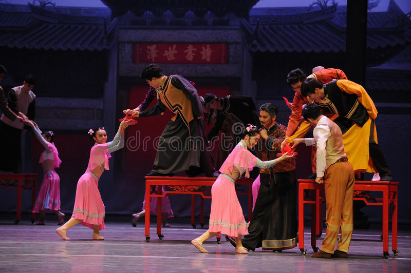 Wedding banquet-The first act of dance drama-Shawan events of the past. Guangdong Shawan Town is the hometown of ballet music, the past focuses on the historical royalty free stock photo