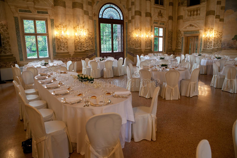 Wedding banquet stock image