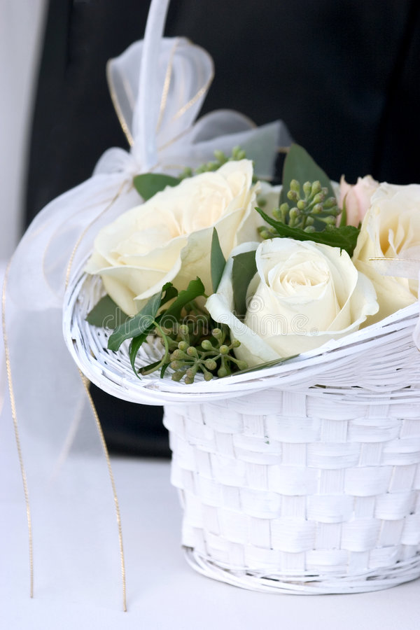 Wedding basket royalty free stock photo