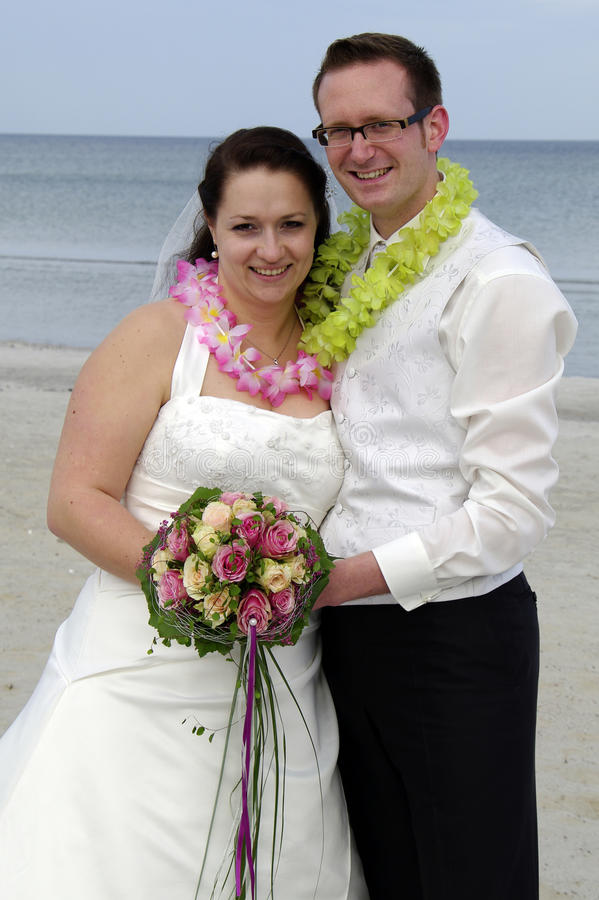Wedding at the beach stock photography