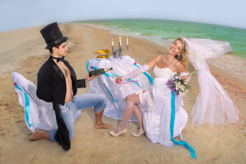 Download Wedding on beach stock image. Image of drink, champagne - 26636335