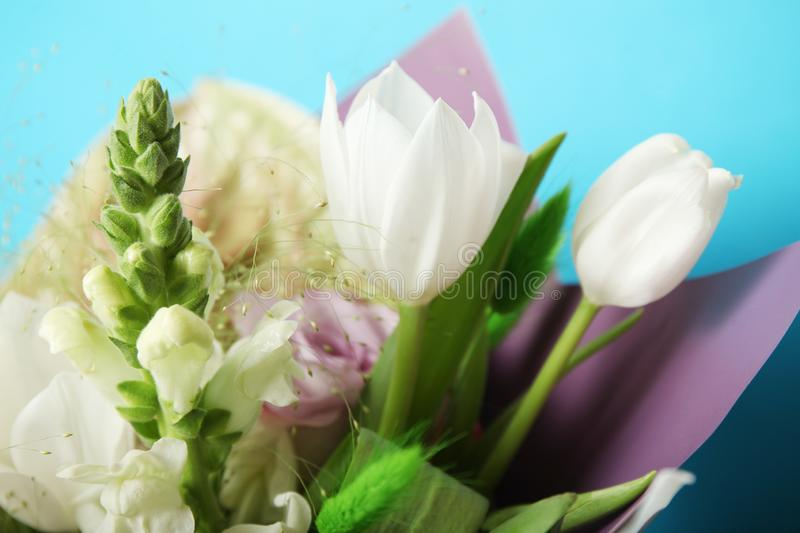Wedding beautiful bouquet, floral background royalty free stock photography