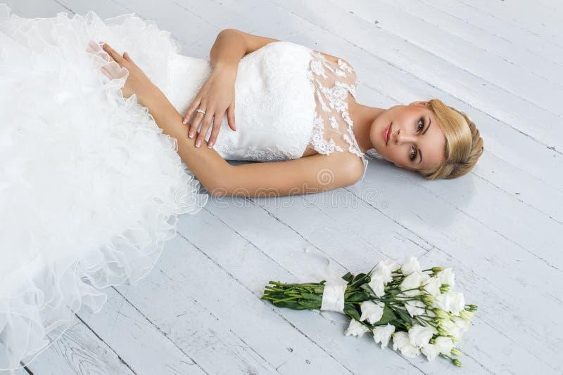 Wedding. Beautiful bride royalty free stock photography