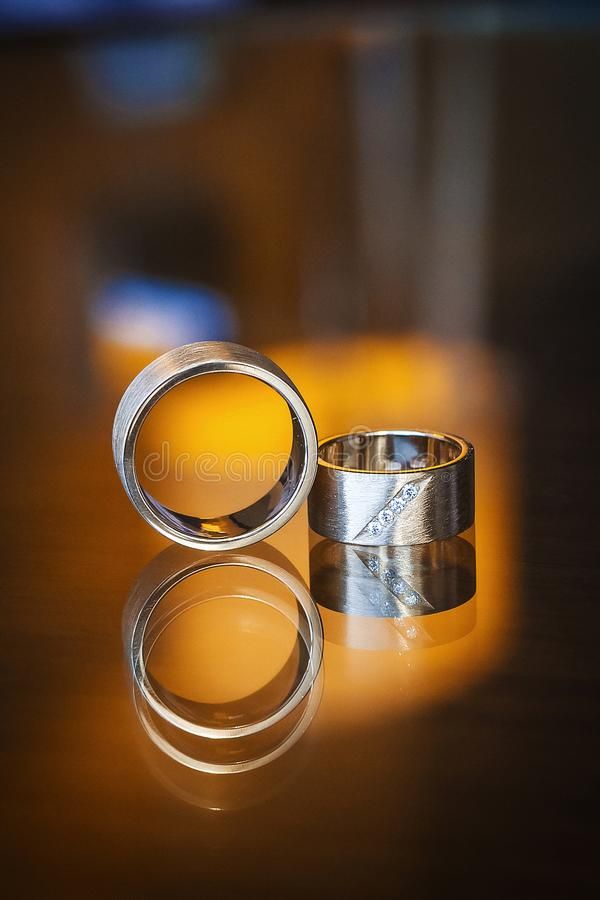 Wedding beauty rings royalty free stock photos
