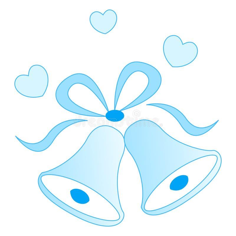 Wedding Bells Stock Vector. Illustration Of Card, Blue