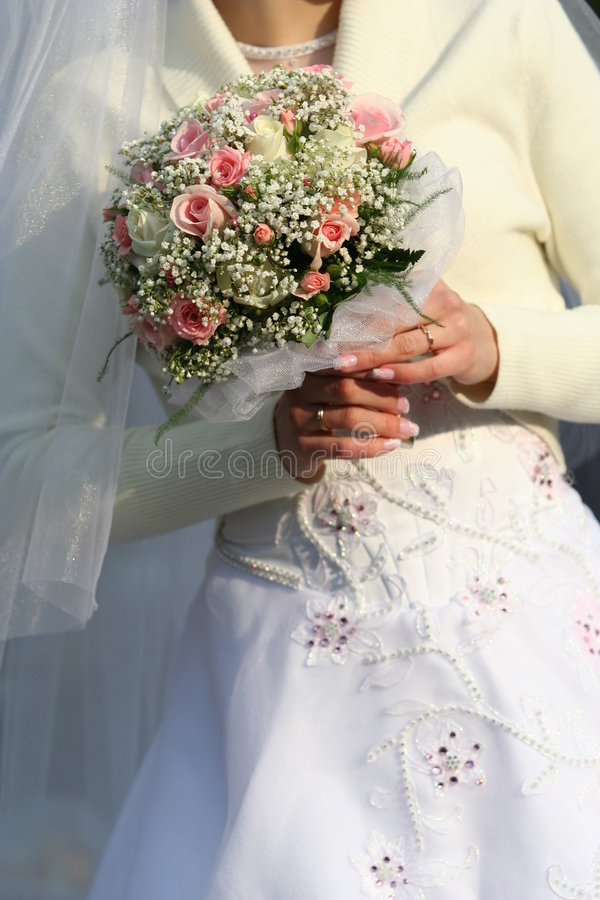 WEDDING BELLS. MARRIAGE, WEDDING BELLS,Happy Bride royalty free stock photo