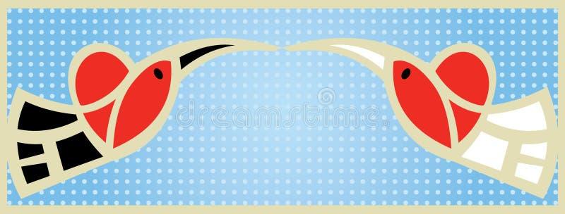 Wedding_birds ilustração do vetor