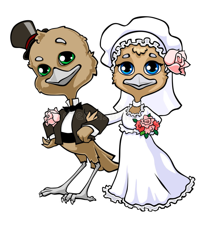 Wedding birds royalty free illustration