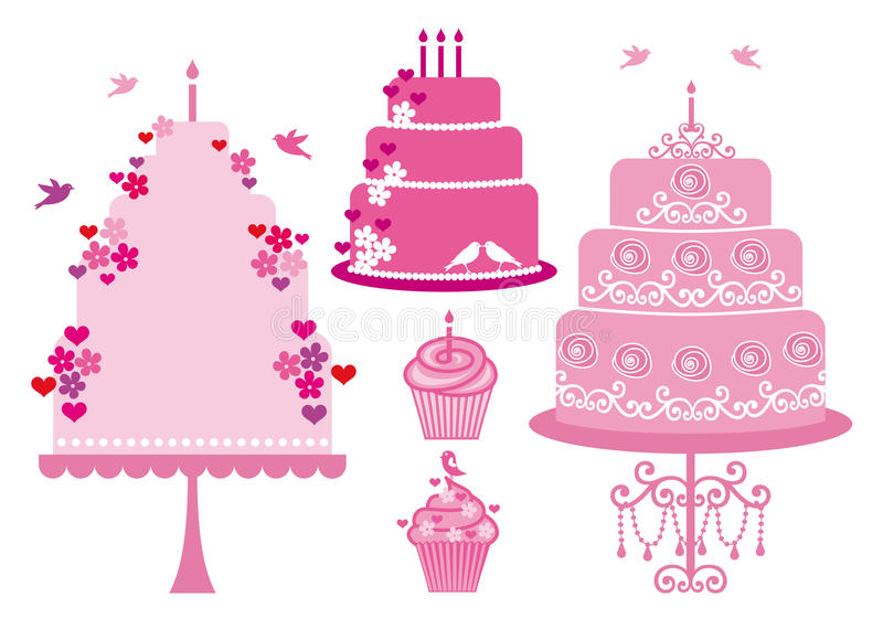 Download Wedding And Birthday Cakes, Vector Stock Photo - Image: 26924840