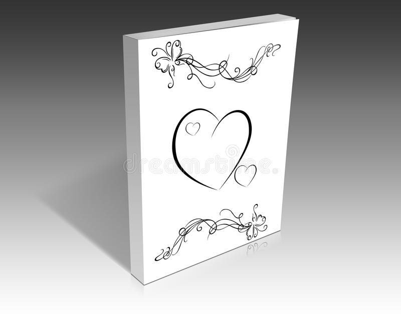 Wedding book vector illustration
