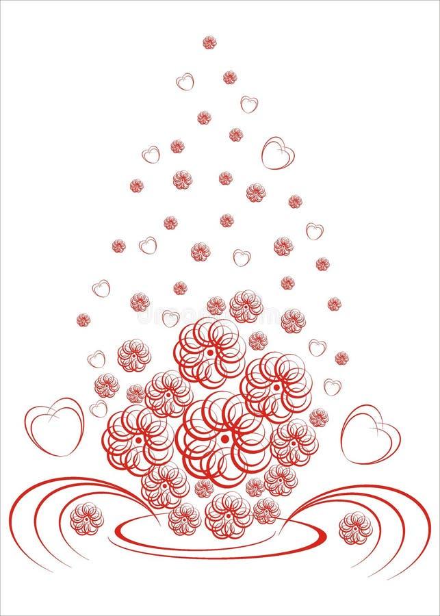 Wedding boquet with flowers. Illustration stock illustration
