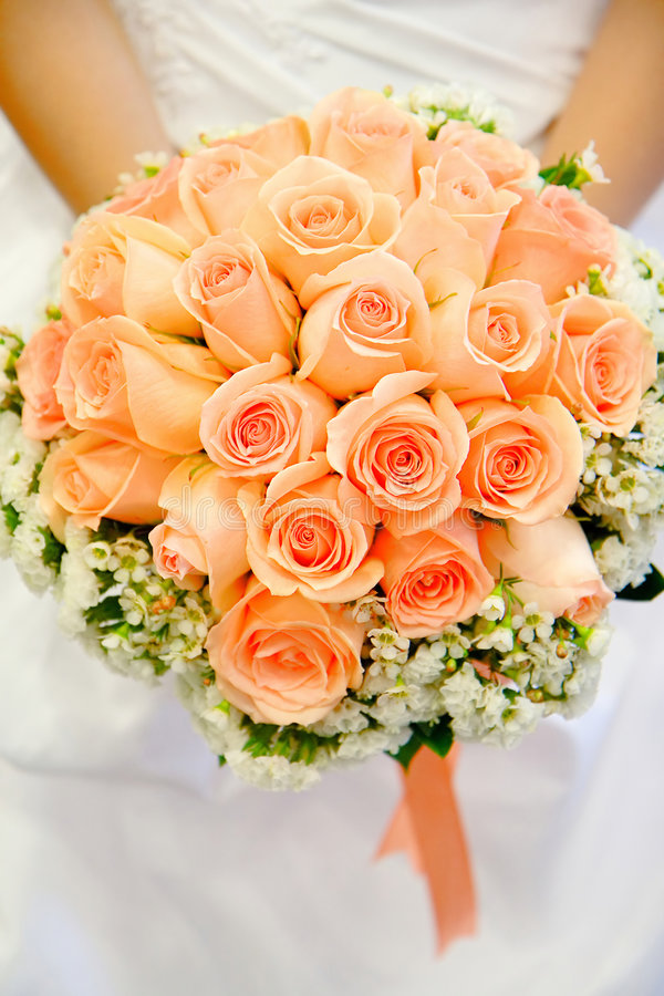 Wedding Bouquet. Being held by bride royalty free stock images
