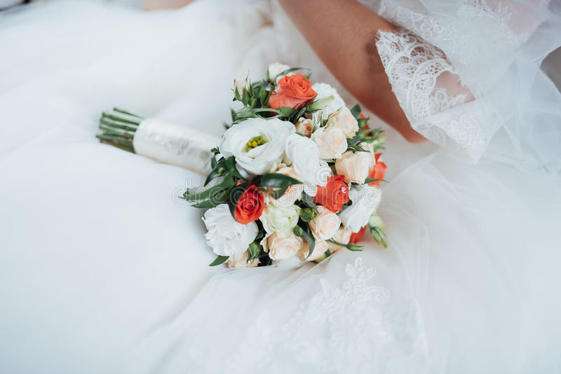 Wedding bouquet, best day in my life. Wedding bouquet. best day in my life stock images