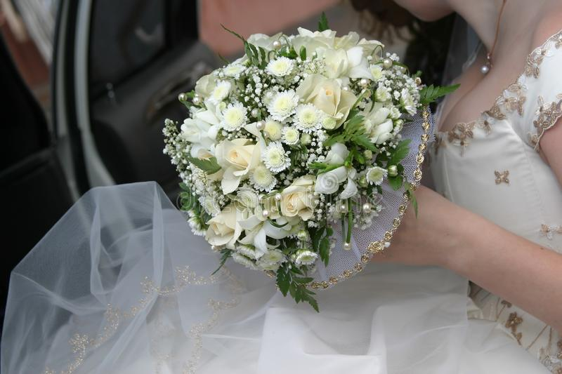 Wedding bouquet of the bride royalty free stock photos