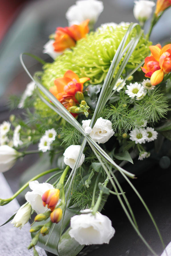 Download Wedding bouquet on car stock photo. Image of marriage - 21623238