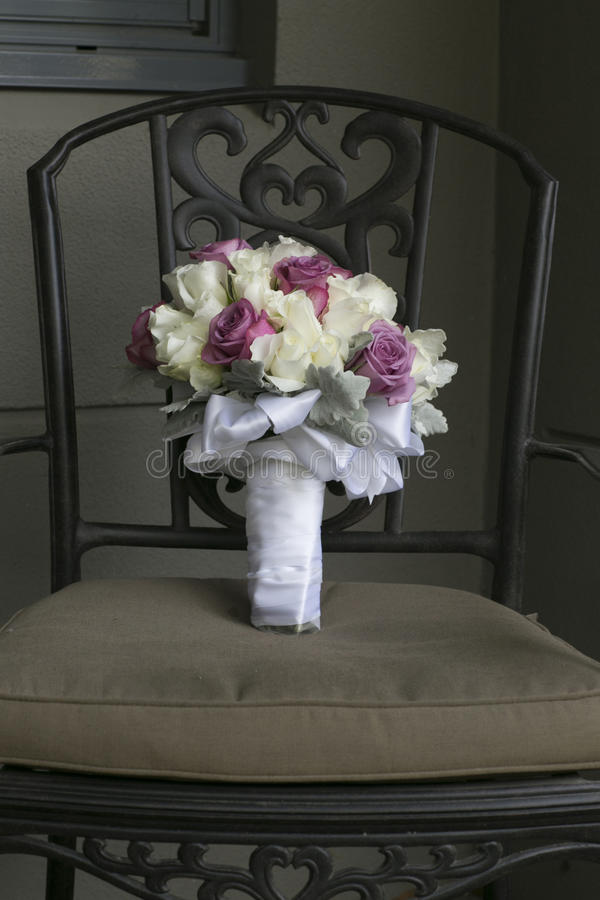 Download Wedding Bouquet On A Chair Stock Photo - Image: 42905333