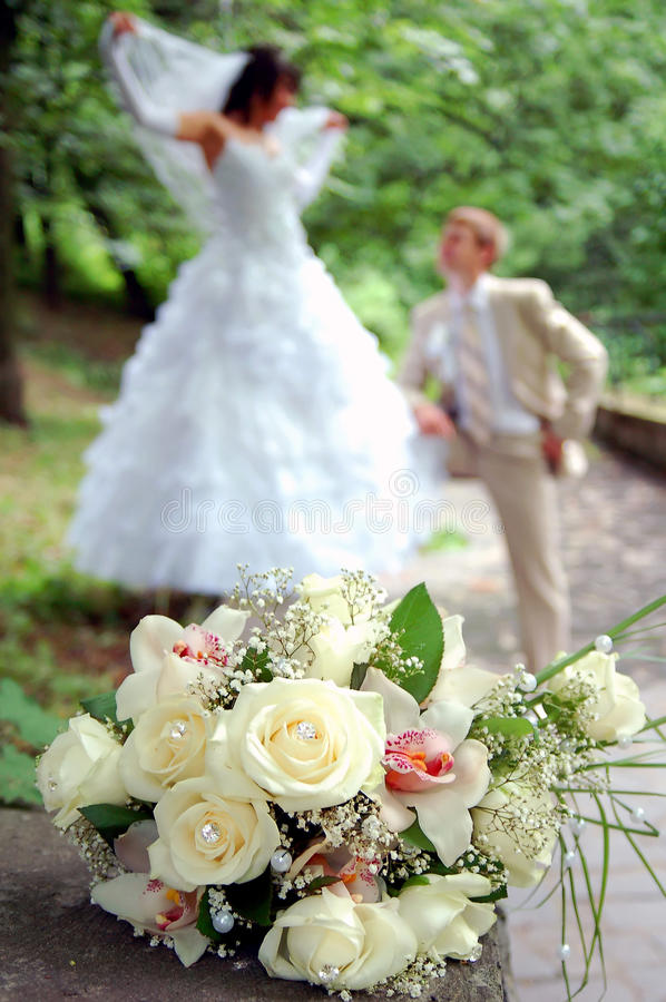 Download Wedding Bouquet On A Foreground Royalty Free Stock Photos - Image: 14822738