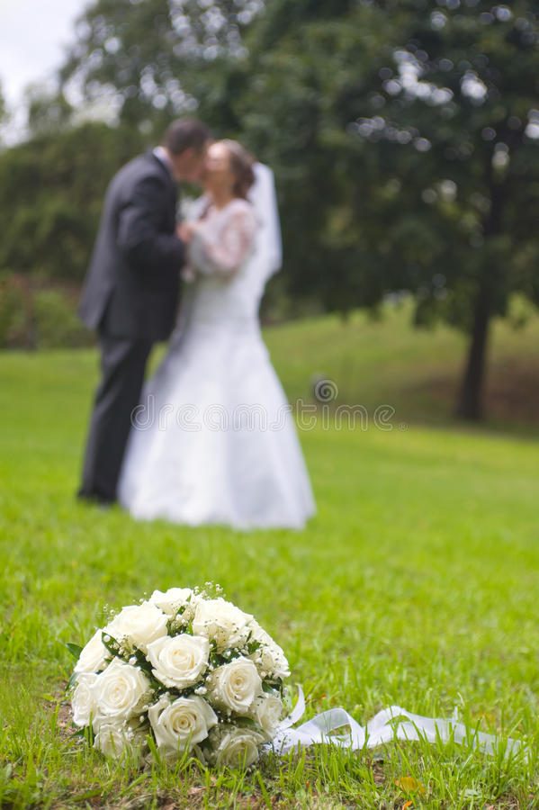 Download Wedding Bouquet On The Grass Stock Image - Image: 17553537