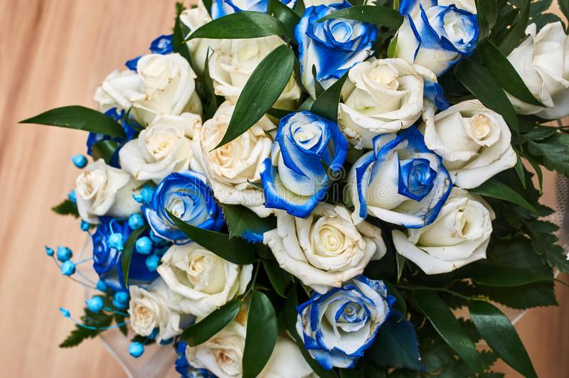 Wedding bouquete. A wedding bouquet, lots of beatyfull flowers stock photo