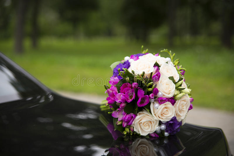 Wedding Bouquet With Red Roses Royalty Free Stock Photo