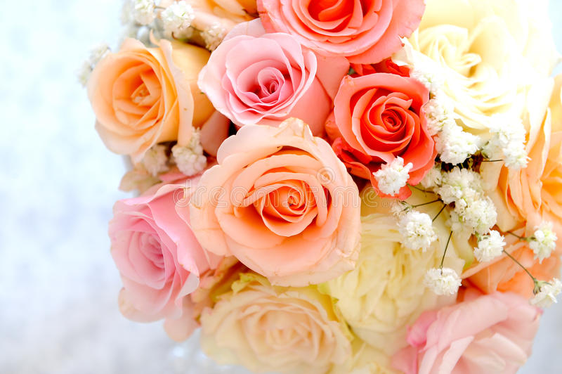 Wedding bouquet with roses royalty free stock image