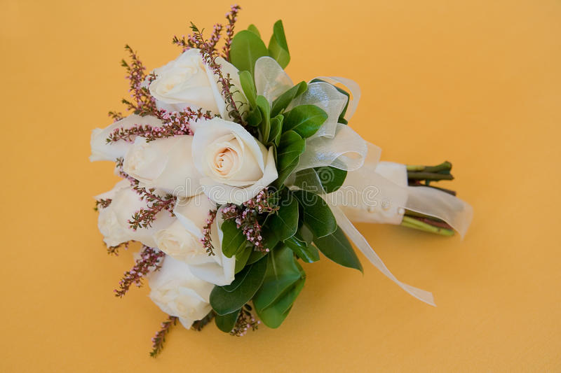 Download Wedding bouquet of roses stock photo. Image of ring, ribbon - 9740910