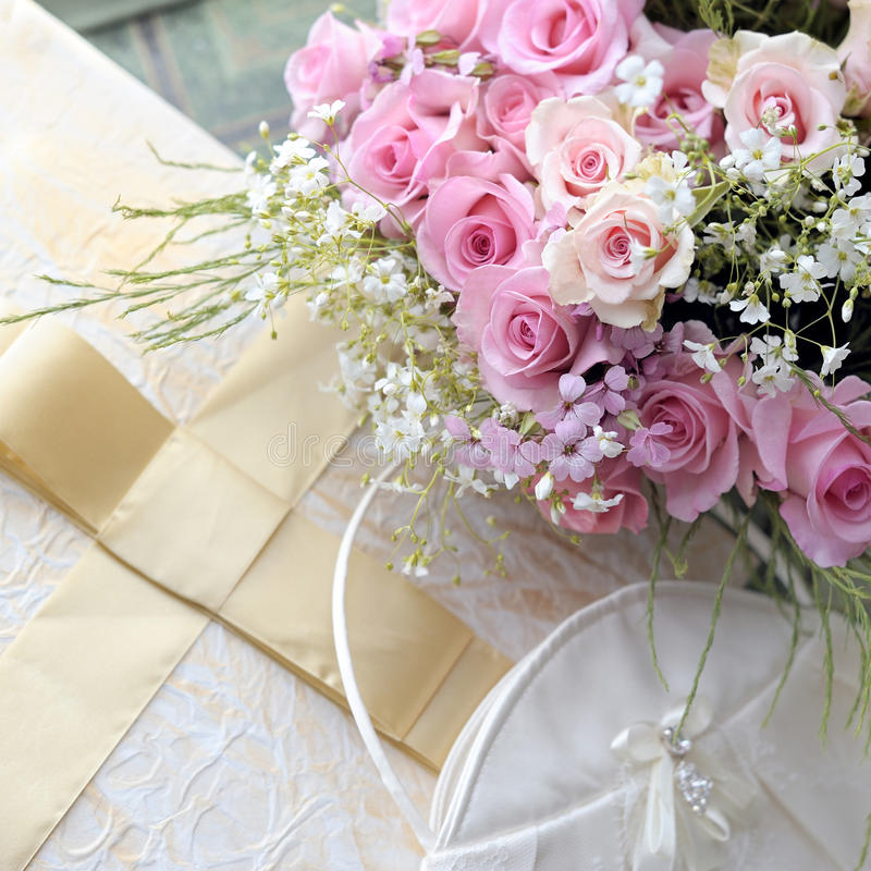 Wedding bouquet of roses. royalty free stock photo