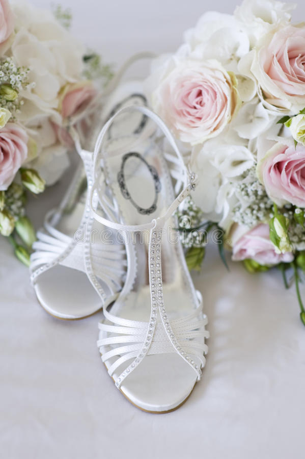 Download Wedding Bouquet And Shoes Nobody Stock Photo - Image: 26547642
