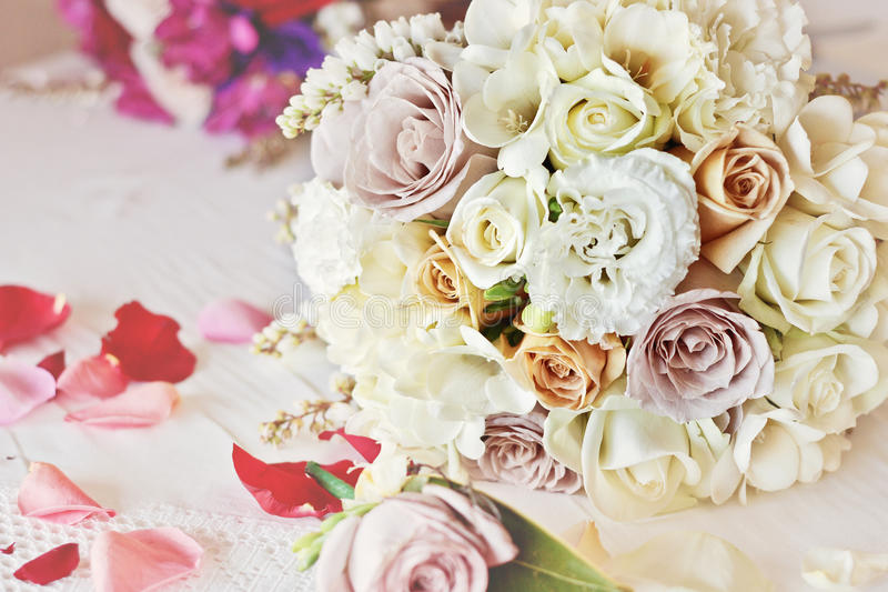 Wedding bouquet, vintage royalty free stock images