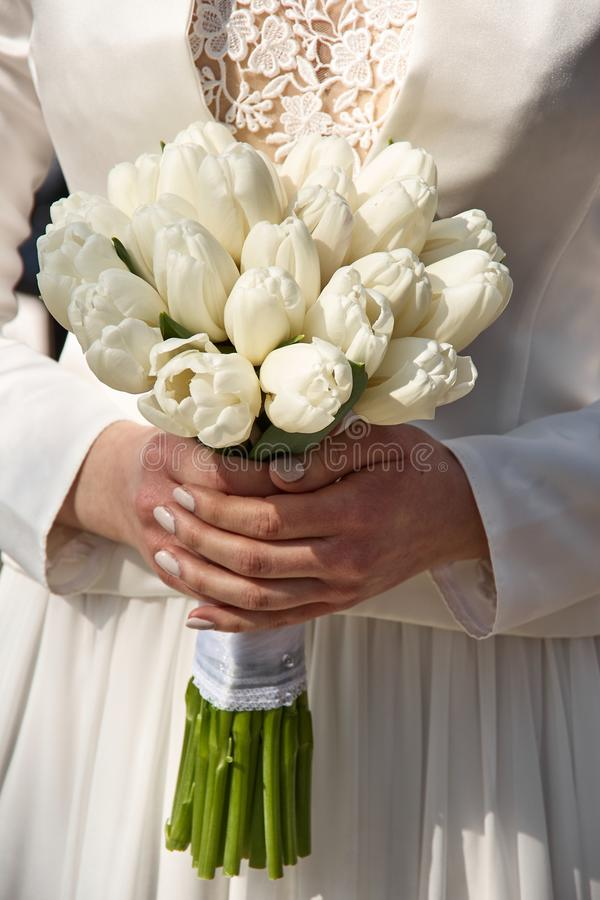 Wedding bouquete. A wedding bouquet, lots of beatyfull flowers royalty free stock image