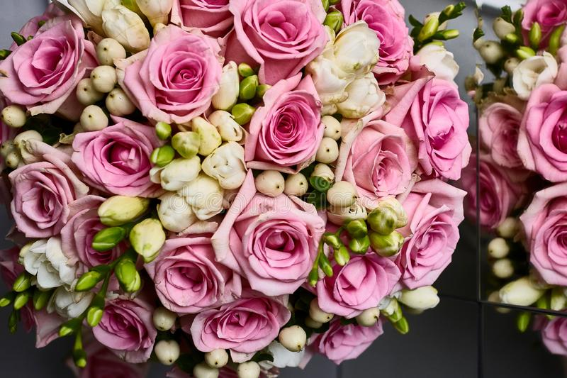 Wedding bouquete. A wedding bouquet, lots of beatyfull flowers stock image