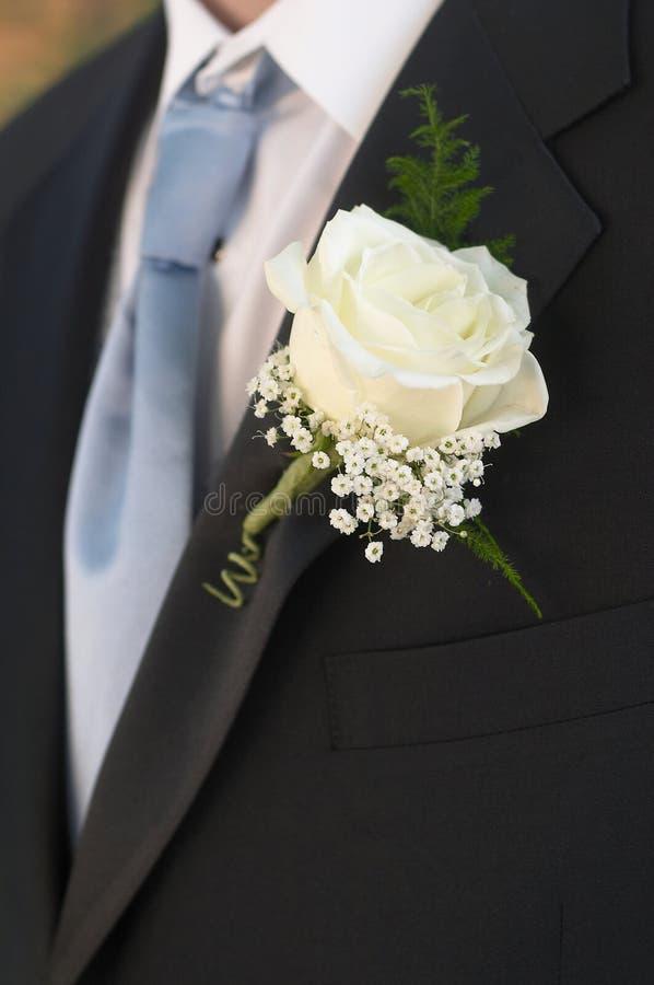 Wedding Boutonniere stock photo