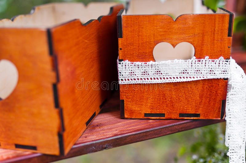 Wedding box stock images