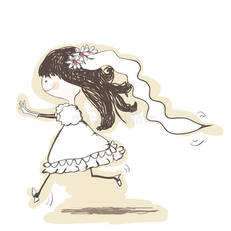 wedding - Brautlack-läufer zum Bräutigam vektor abbildung