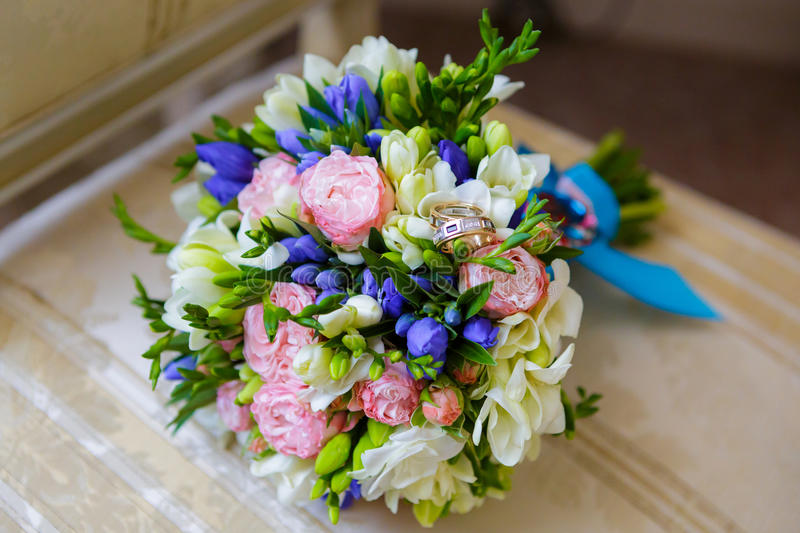 Wedding Bridal bouquet. Beautiful wedding bouquet of the bride royalty free stock images