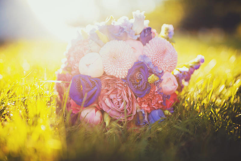 wedding bridal bouquet stock photography