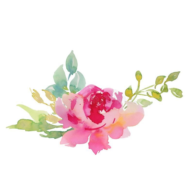 Free Wedding Bridal Bouquet. Red And Pink And Green Flowers Ornament Stock Photography - 116361242