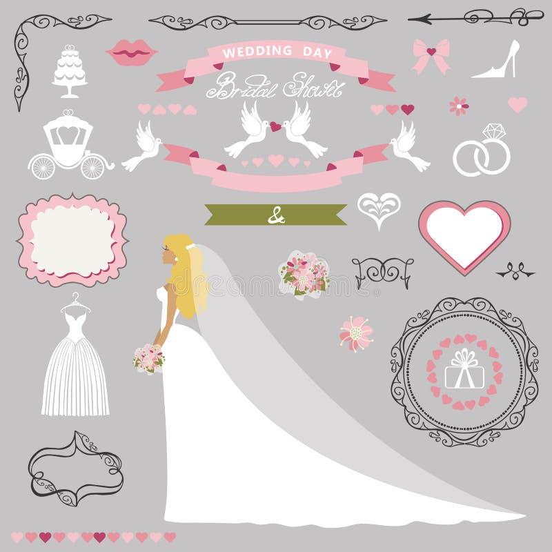 Wedding bridal shower decor setide invitation card kit stock download wedding bridal shower decor setide invitation card kit stock vector illustration of stopboris Images