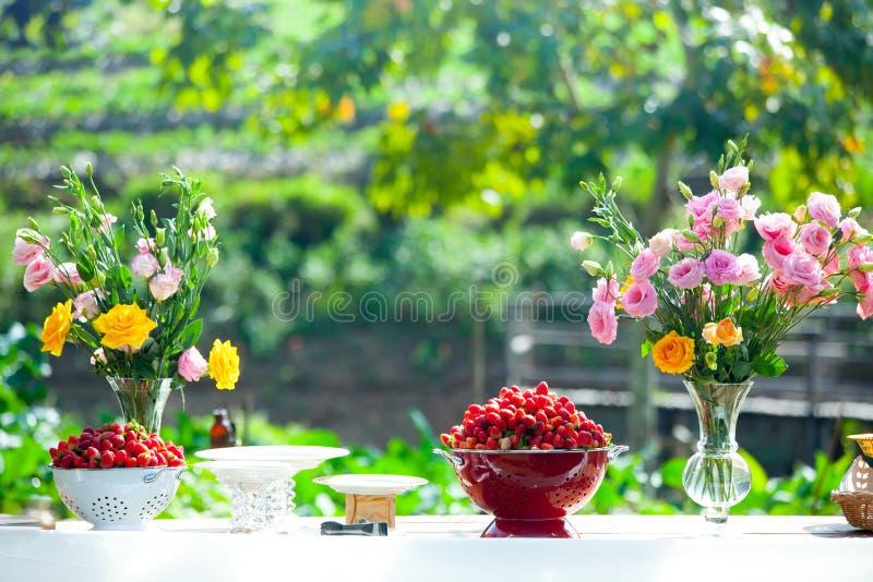 Wedding, Bridal shower flowers stock image
