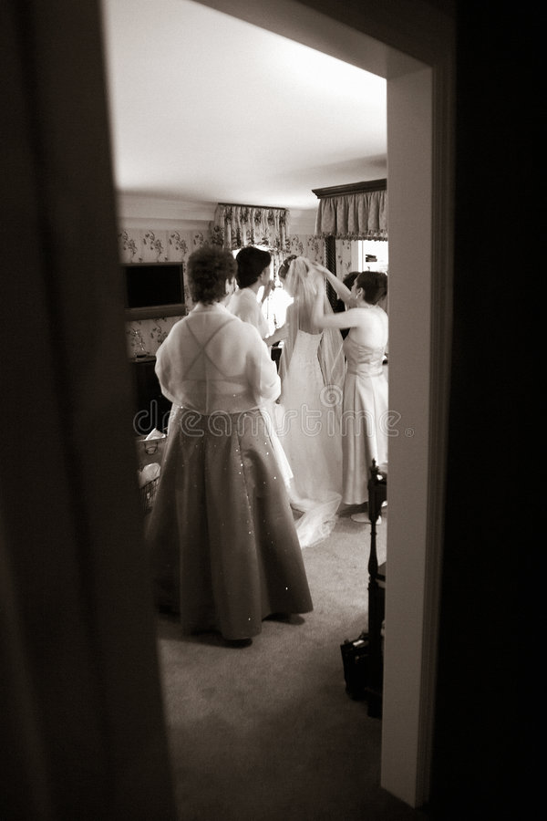 Free Wedding- Bride Before The Big Moment Stock Photos - 1189293