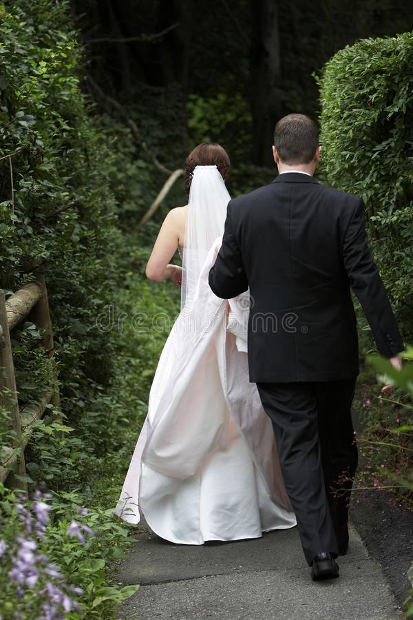 Wedding - Bride and Groom stock photo