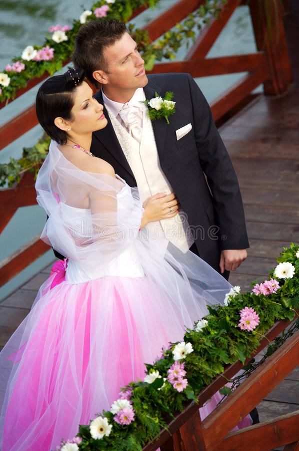 Wedding: Bride and Groom stock photography