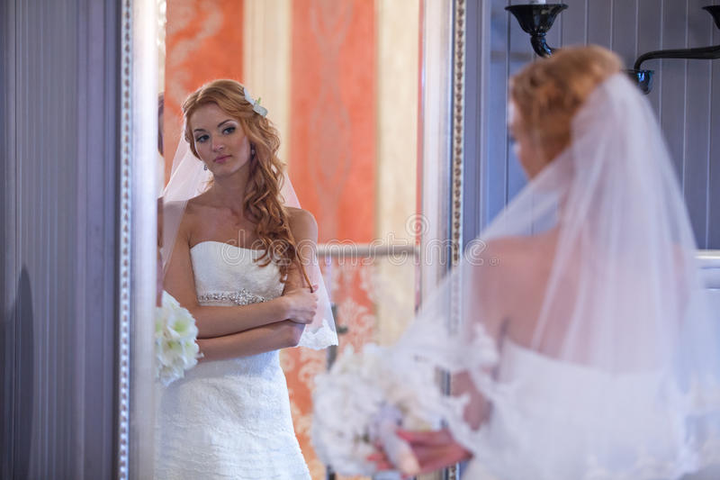 Wedding, bride and groom, love stock photo