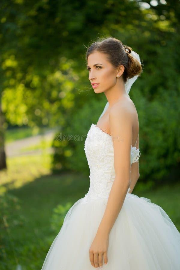 Wedding bride smiling royalty free stock photo